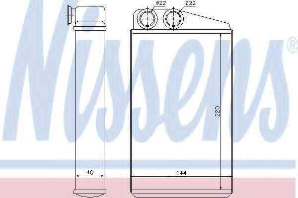 Радиатор отопления салона NISSENS 73249 - изображение