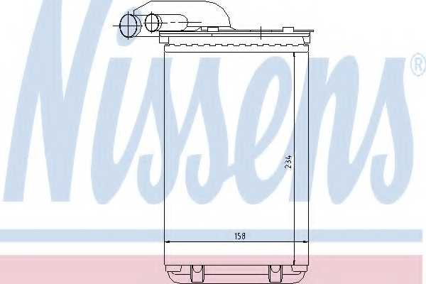 Радиатор отопления салона NISSENS 73252 - изображение