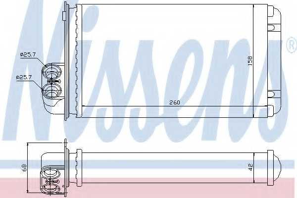 Радиатор отопления салона NISSENS 73255 - изображение