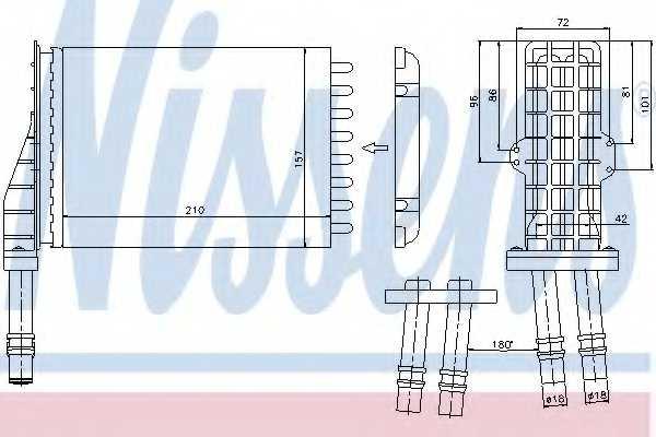 Радиатор отопления салона NISSENS 73258 - изображение