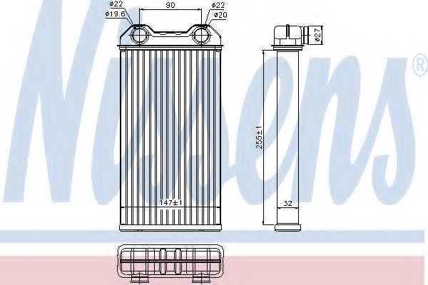 Радиатор отопления салона NISSENS 73331 - изображение