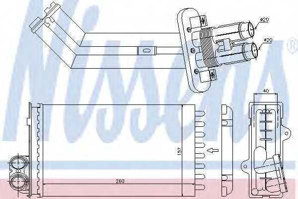 Радиатор отопления салона NISSENS 73362 - изображение