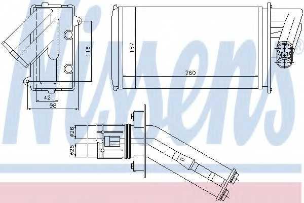 Радиатор отопления салона NISSENS 73368 - изображение