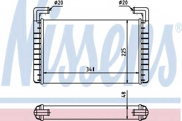 Радиатор отопления салона NISSENS 73371 - изображение