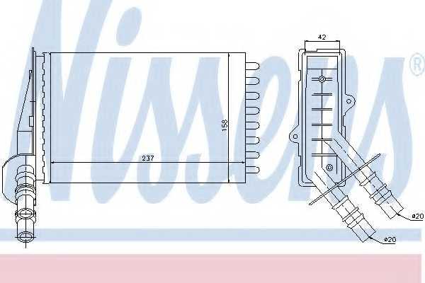 Радиатор отопления салона NISSENS 73374 - изображение