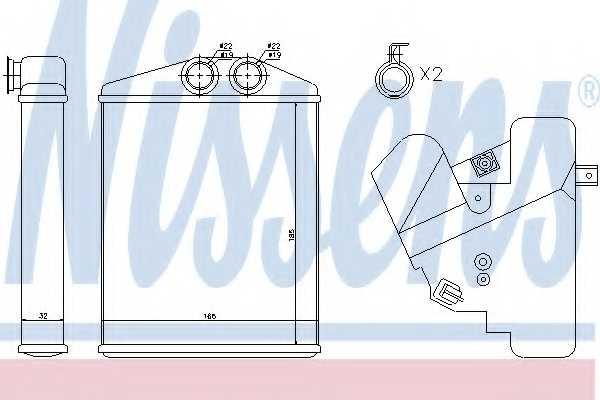 Радиатор отопления салона NISSENS 73377 - изображение