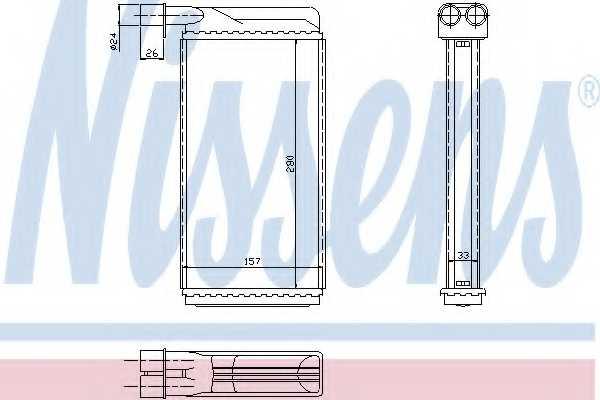 Радиатор отопления салона NISSENS 73382 - изображение