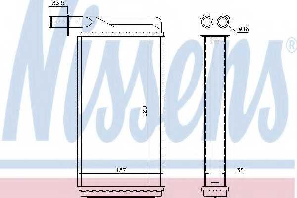 Радиатор отопления салона NISSENS 73385 - изображение