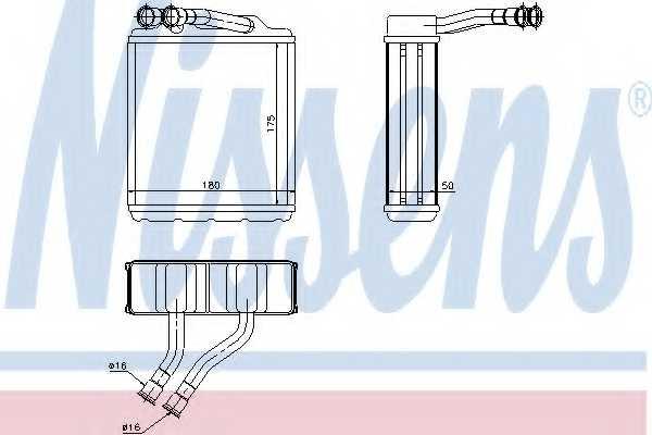 Радиатор отопления салона NISSENS 73464 - изображение
