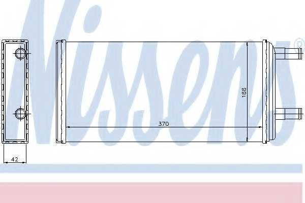 Радиатор отопления салона NISSENS 73621 - изображение