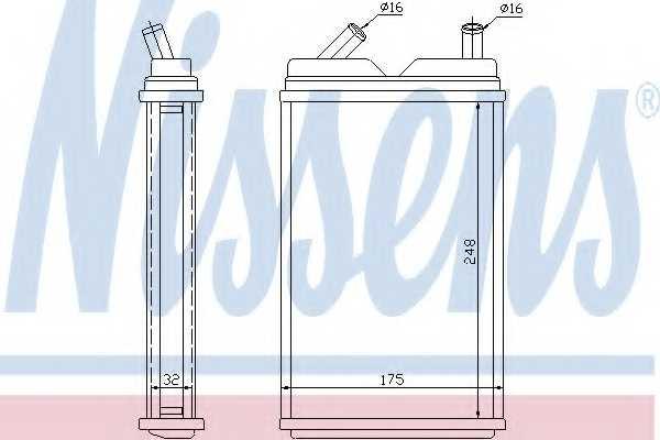 Радиатор отопления салона NISSENS 73624 - изображение