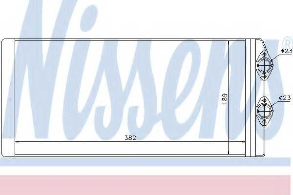 Радиатор отопления салона NISSENS 73629 - изображение