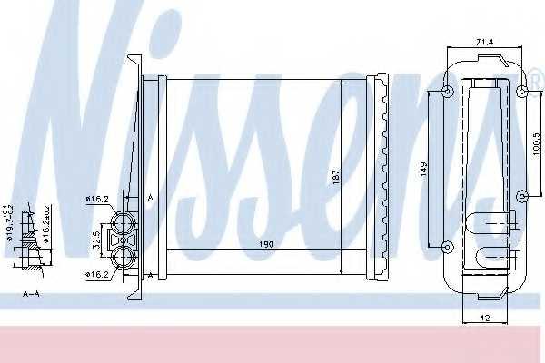 Радиатор отопления салона NISSENS 73640 - изображение