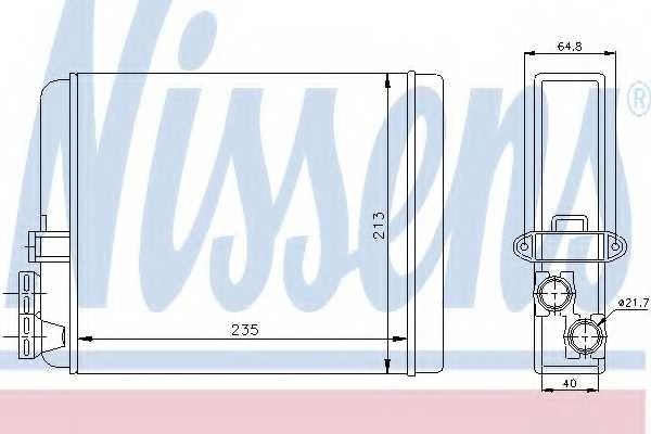 Радиатор отопления салона NISSENS 73641 - изображение