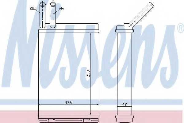 Радиатор отопления салона NISSENS 73642 - изображение
