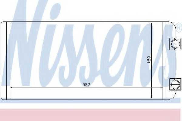 Радиатор отопления салона NISSENS 73643 - изображение
