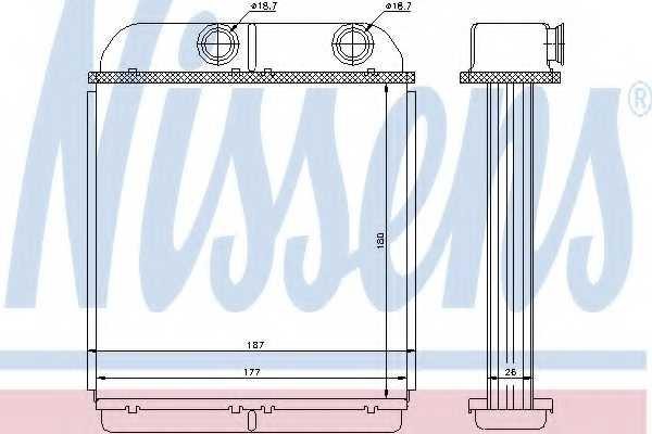 Радиатор отопления салона NISSENS 73644 - изображение