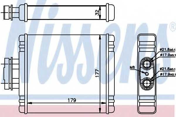 Радиатор отопления салона NISSENS 73654 - изображение
