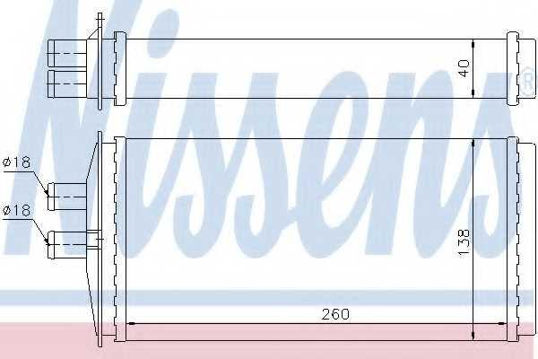 Радиатор отопления салона NISSENS 73655 - изображение