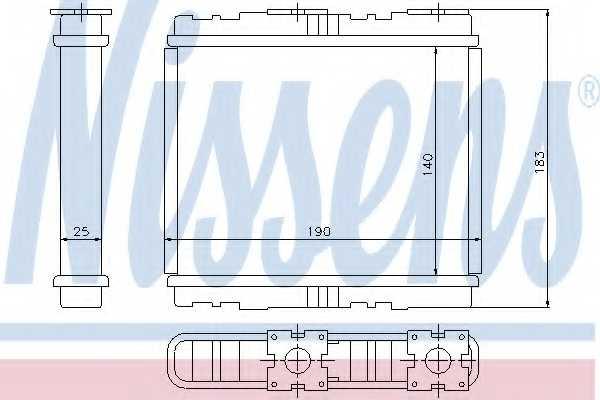 Радиатор отопления салона NISSENS 73700 - изображение