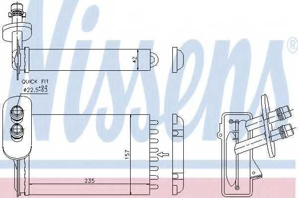 Радиатор отопления салона NISSENS 73921 - изображение