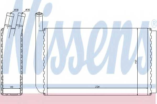 Радиатор отопления салона NISSENS 73940 - изображение
