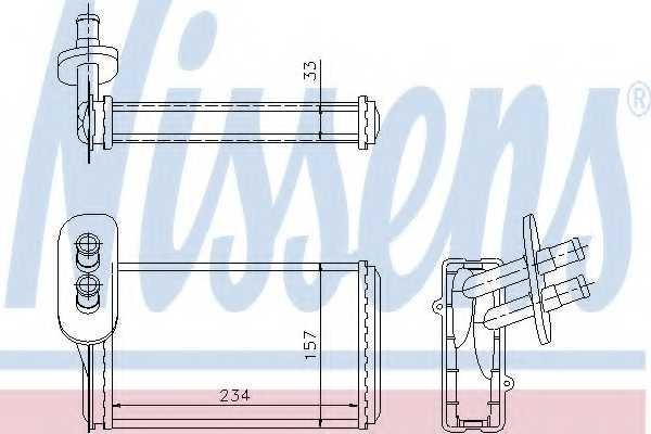 Радиатор отопления салона NISSENS 73962 - изображение