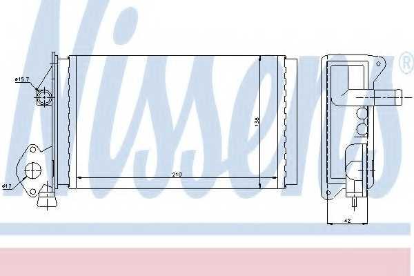 Радиатор отопления салона NISSENS 73964 - изображение