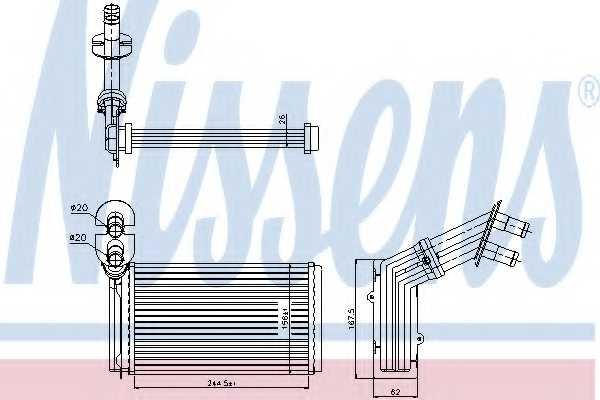 Радиатор отопления салона NISSENS 73973 - изображение