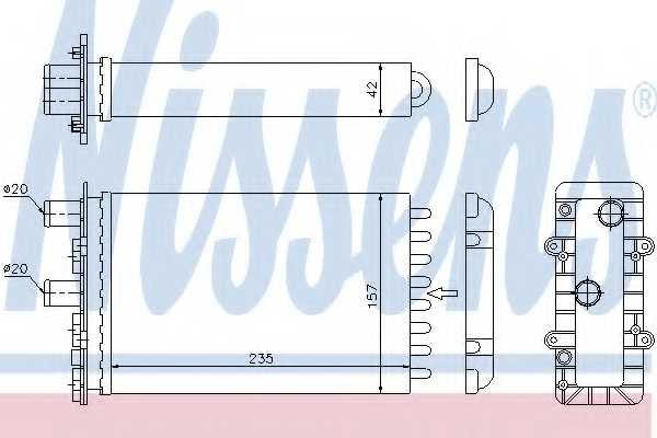 Радиатор отопления салона NISSENS 73974 - изображение