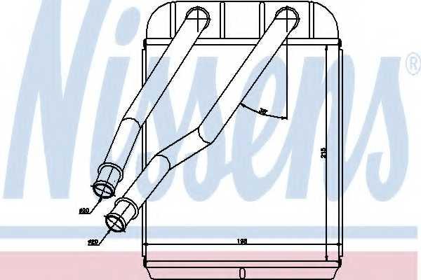 Радиатор отопления салона NISSENS 73975 - изображение