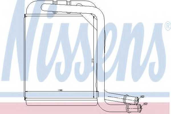 Радиатор отопления салона NISSENS 73976 - изображение