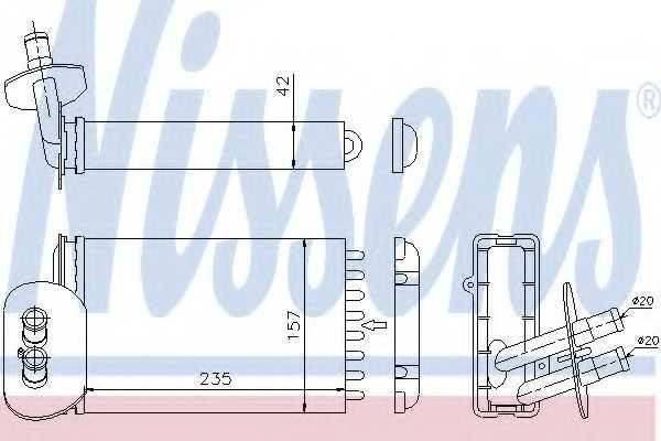 Радиатор отопления салона NISSENS 73977 - изображение
