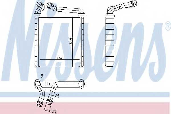Радиатор отопления салона NISSENS 73979 - изображение