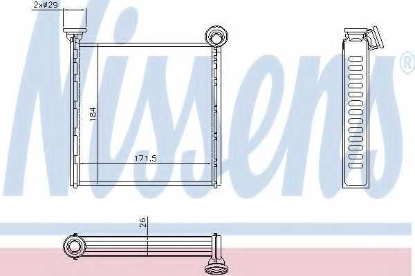 Радиатор отопления салона NISSENS 73980 - изображение