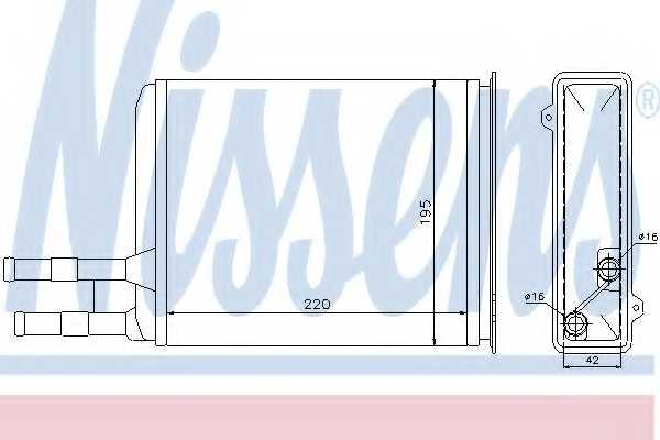 Радиатор отопления салона NISSENS 73984 - изображение