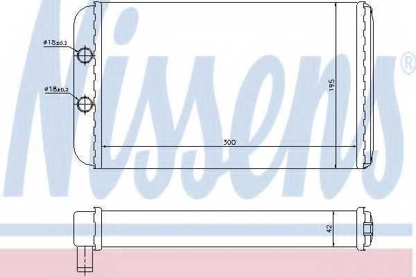 Радиатор отопления салона NISSENS 73986 - изображение