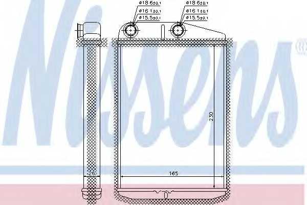 Радиатор отопления салона NISSENS 73989 - изображение