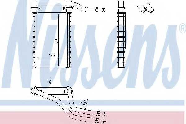 Радиатор отопления салона NISSENS 73991 - изображение