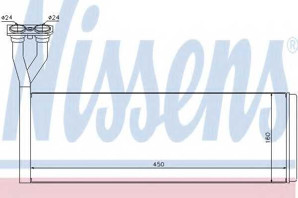 Радиатор отопления салона NISSENS 75005 - изображение
