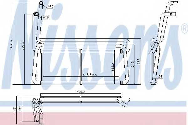 Радиатор отопления салона NISSENS 75007 - изображение