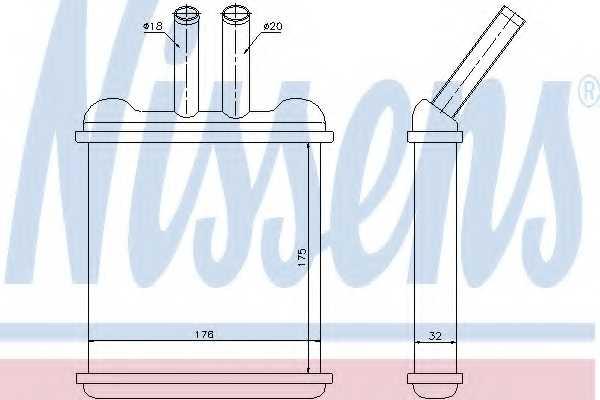Радиатор отопления салона NISSENS 76502 - изображение