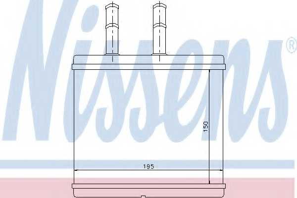 Радиатор отопления салона NISSENS 76504 - изображение