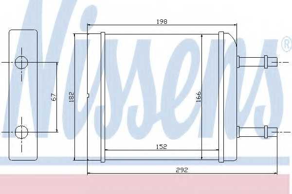 Радиатор отопления салона NISSENS 76506 - изображение