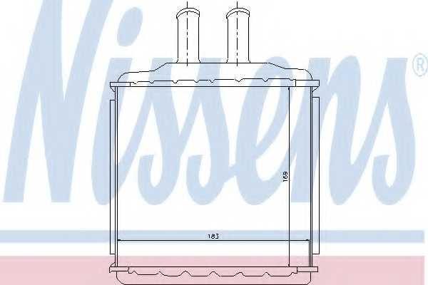 Радиатор отопления салона NISSENS 76509 - изображение