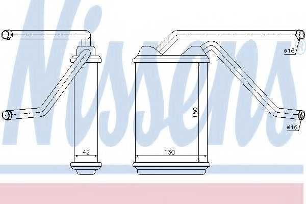 Радиатор отопления салона NISSENS 76511 - изображение