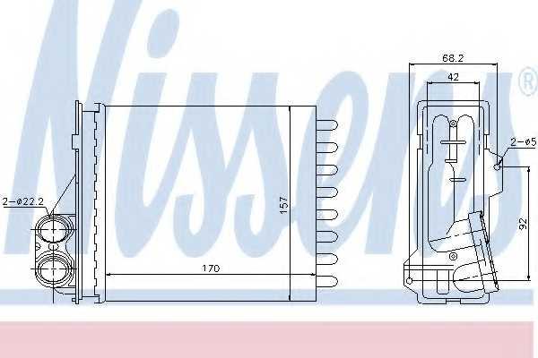 Радиатор отопления салона NISSENS 76512 - изображение