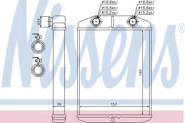 Радиатор отопления салона NISSENS 76514 - изображение