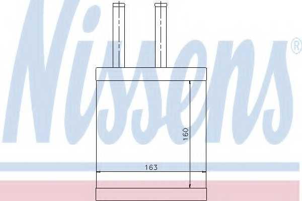 Радиатор отопления салона NISSENS 77505 - изображение