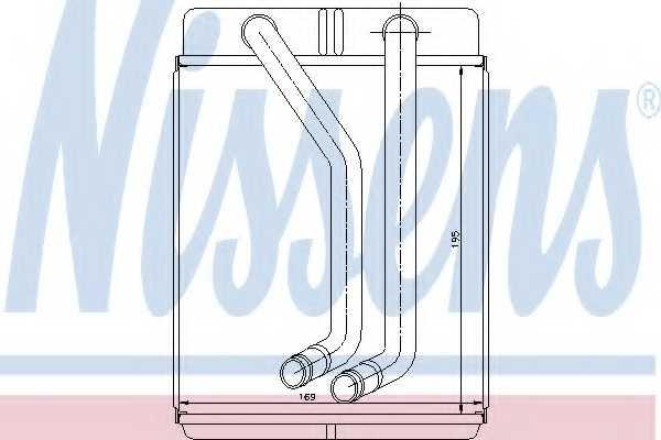 Радиатор отопления салона NISSENS 77507 - изображение